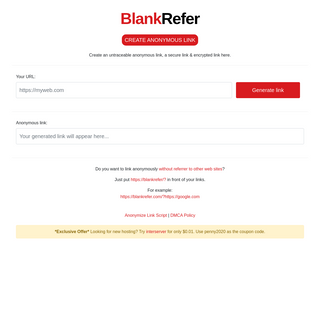 BlankRefer - create an anonymous link