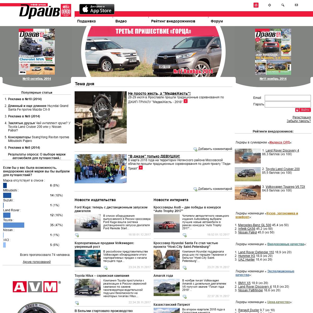 Журнал о полноприводной технике формата 4х4 - Off-road drive