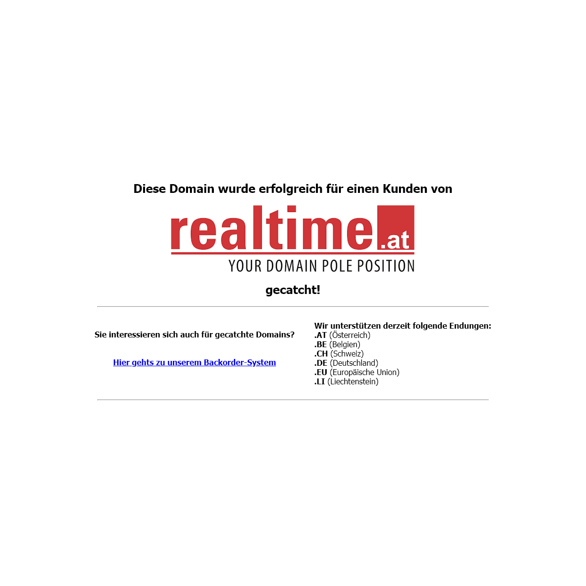 realtime.at - Domain gecatcht