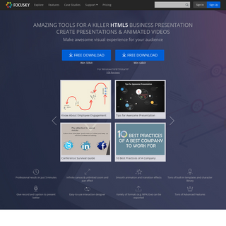 HTML5 Presentation Software - Video Presentation Maker and PowerPoint alternative - Focusky