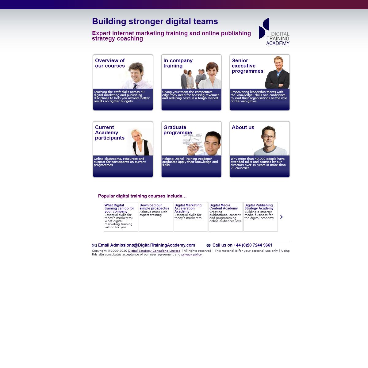 Digital Training Academy – Building stronger digital teams