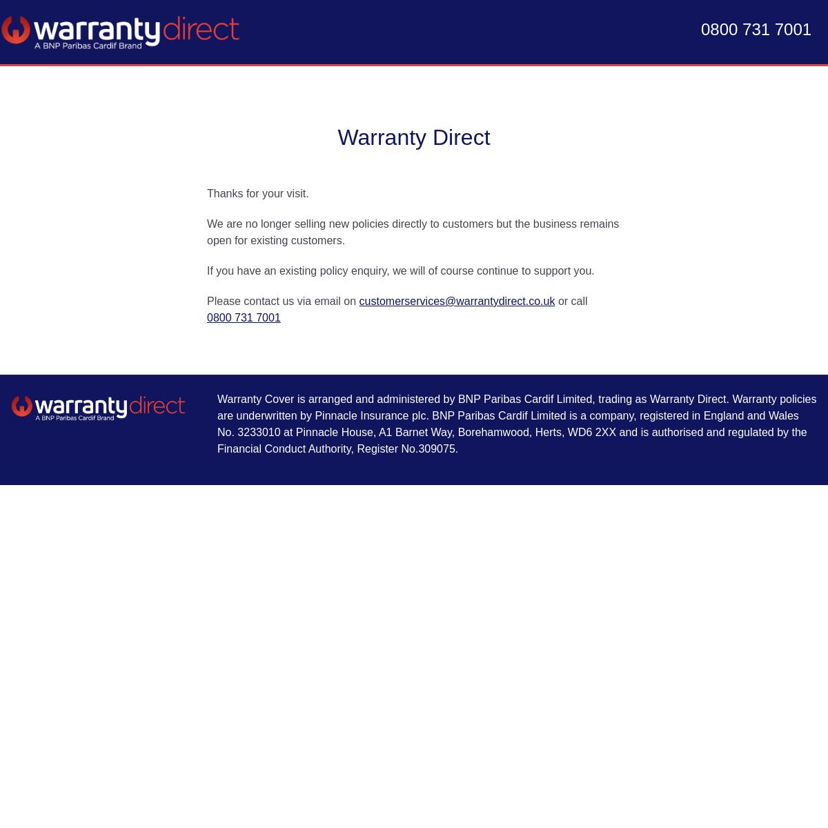 A complete backup of warrantydirect.co.uk