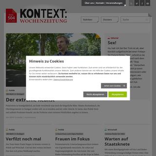 KONTEXT-Wochenzeitung - Aktuelle Ausgabe