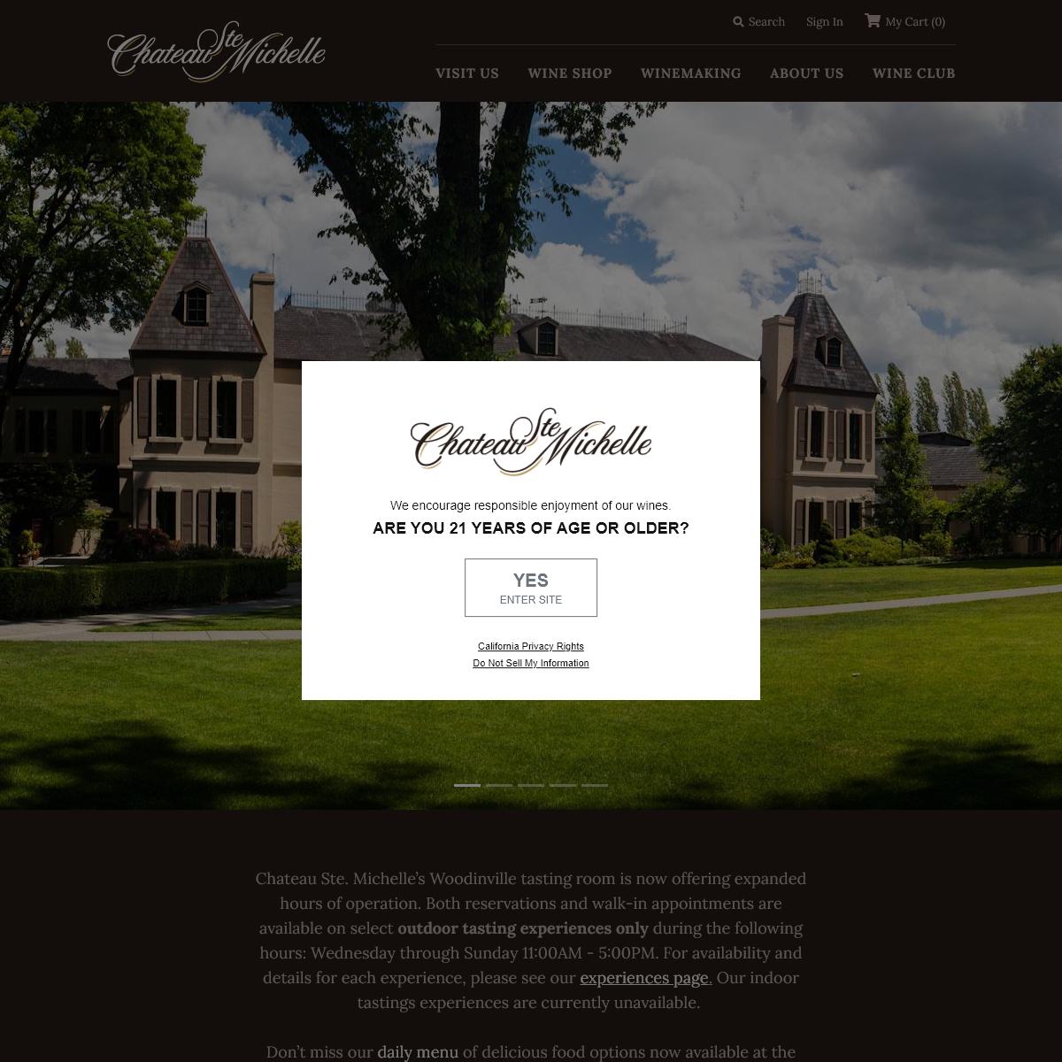 Chateau Ste. Michelle Winery Woodinville, Washington