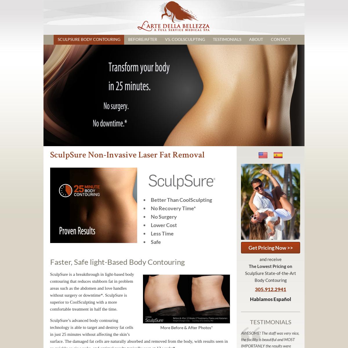 #1 Miami SculpSure Body Contouring Spa - BellezzaSculpSureMiami.com