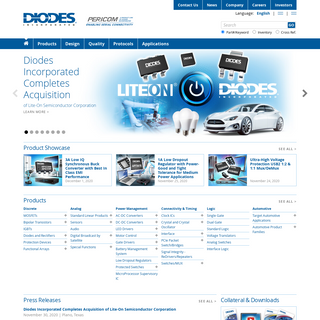 Diodes Incorporated - Analog, Discrete, Logic, Mixed-Signal