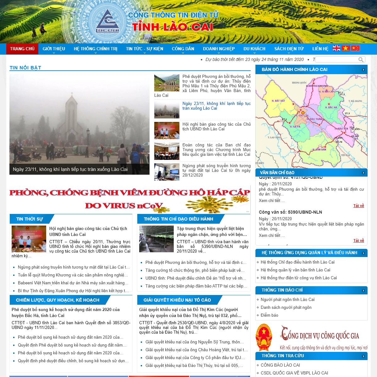 Cổng thông tin tỉnh Lào Cai