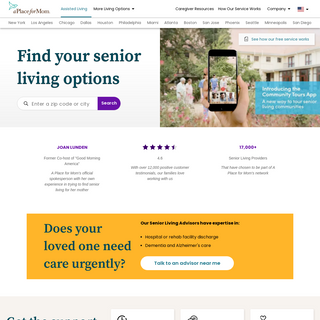 Find Assisted Living, Memory Care and Senior Living - A Place for Mom
