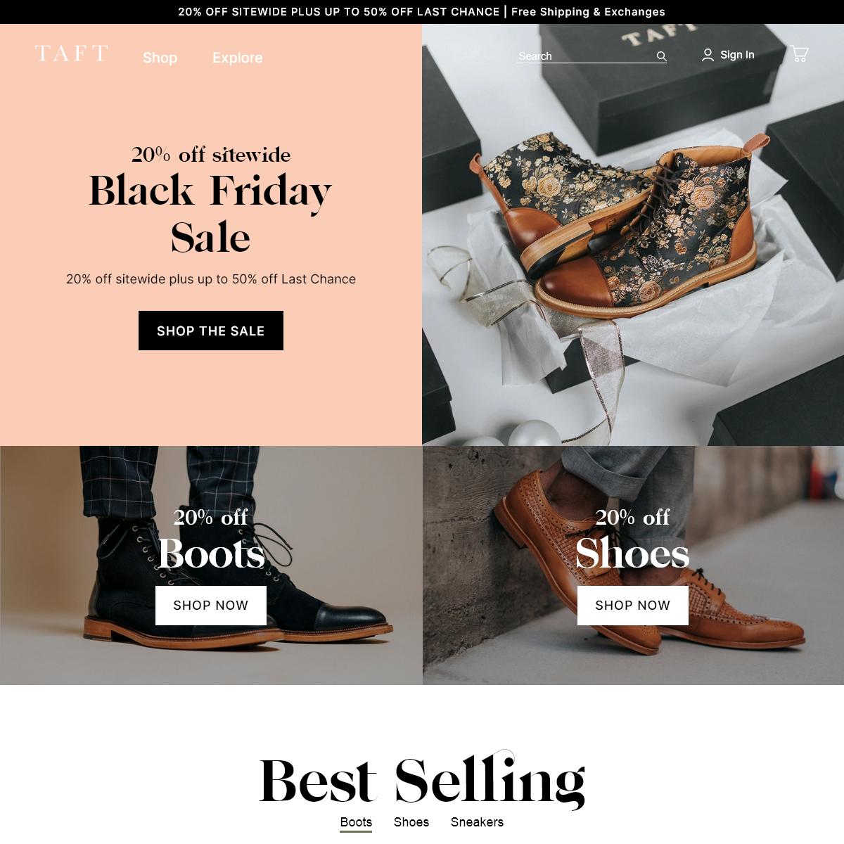 Handcrafted Men`s Designer Boots & Shoes - TAFT