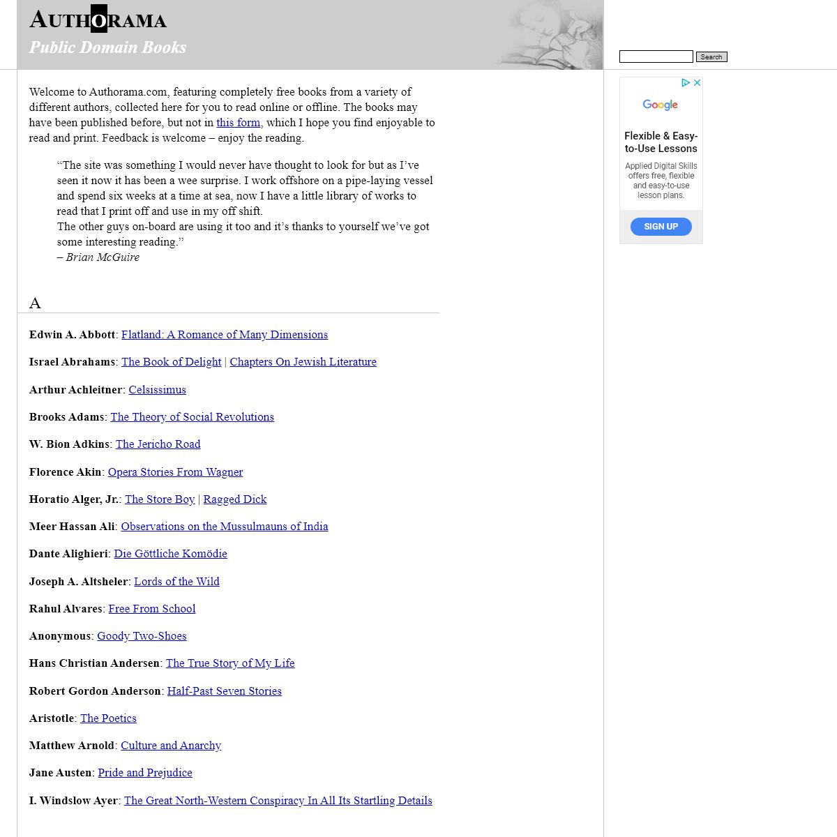 Authorama - Public Domain Books