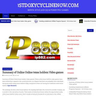 1stdoxycyclinenow.com - Berita Situs Judi QQ & Poker Pkv Games
