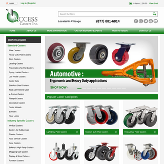 Standard & Industry-Specific Caster Wheels - AccessCasters.com