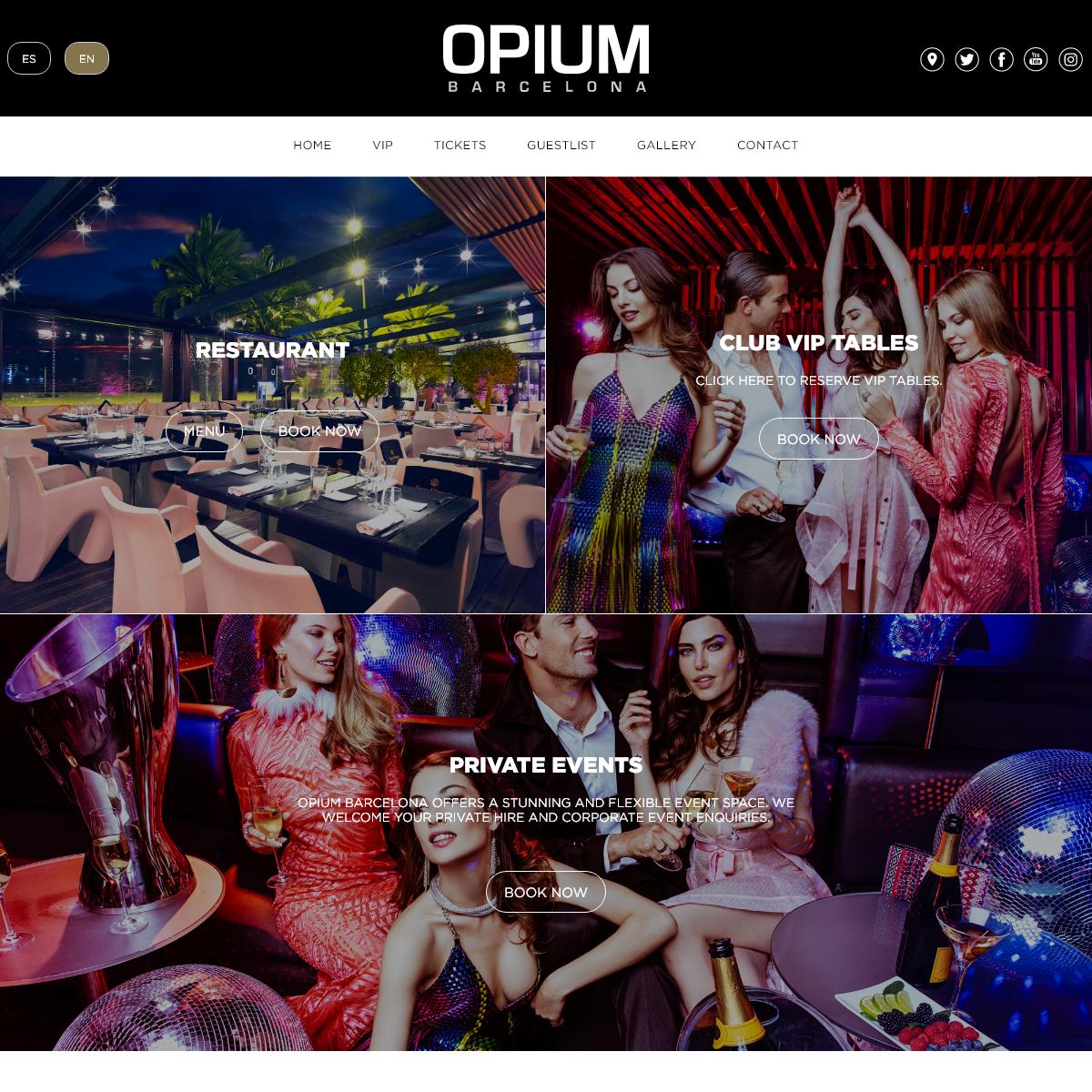 Home - Opium Barcelona