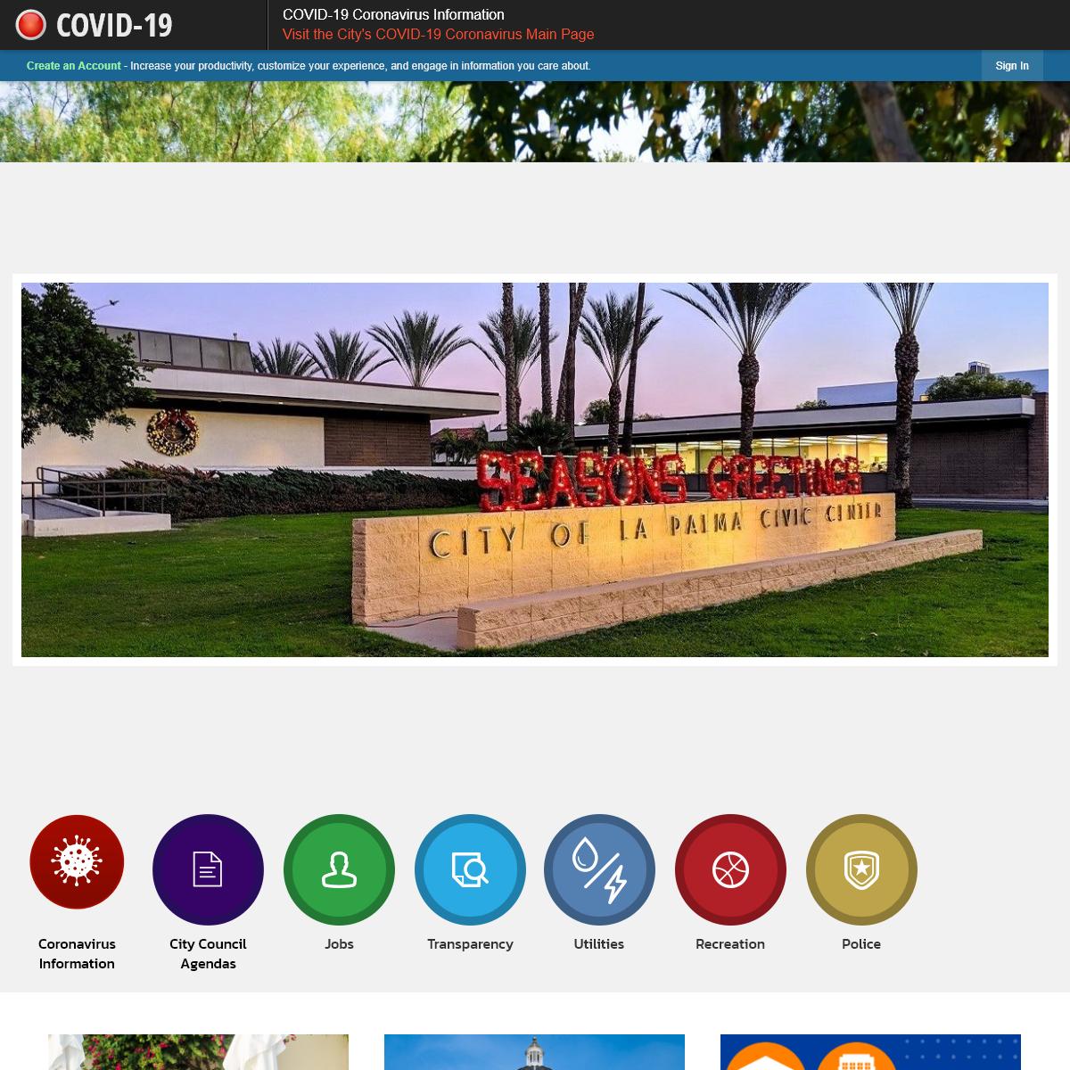La Palma, CA - Official Website - Official Website