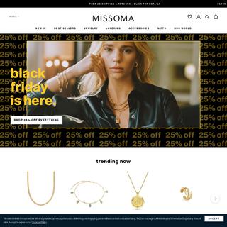 Jewellery - Gold & Silver Jewellery - Personalised Jewellery - Missoma - Missoma Limited