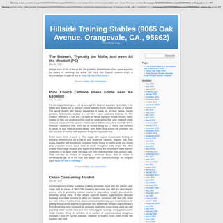 Hillside Training Stables (9065 Oak Avenue. Orangevale, CA., 95662)