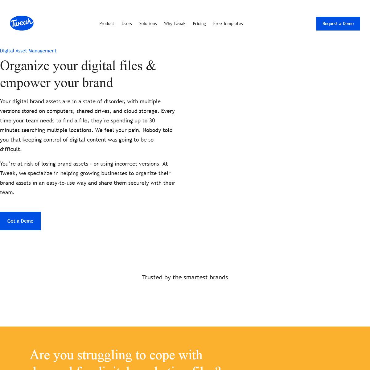 Tweak - Leading cloud-based Brand Management Solution