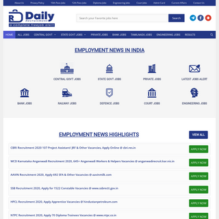 Today Employment News this week 21 -27 Nov 2020- Upcoming Government Jobs 2020