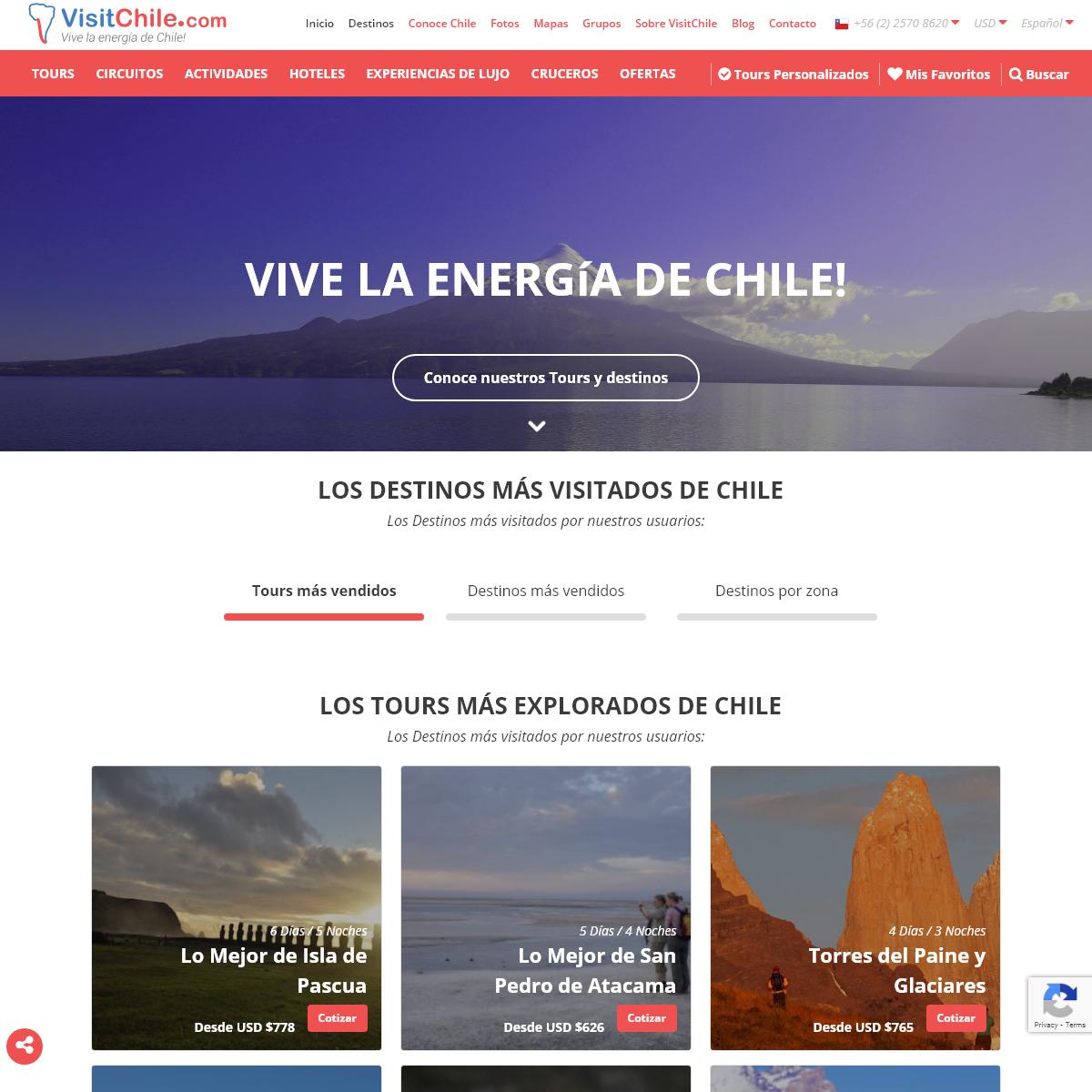 Chile Tours, Hoteles, Viajes y Turismo