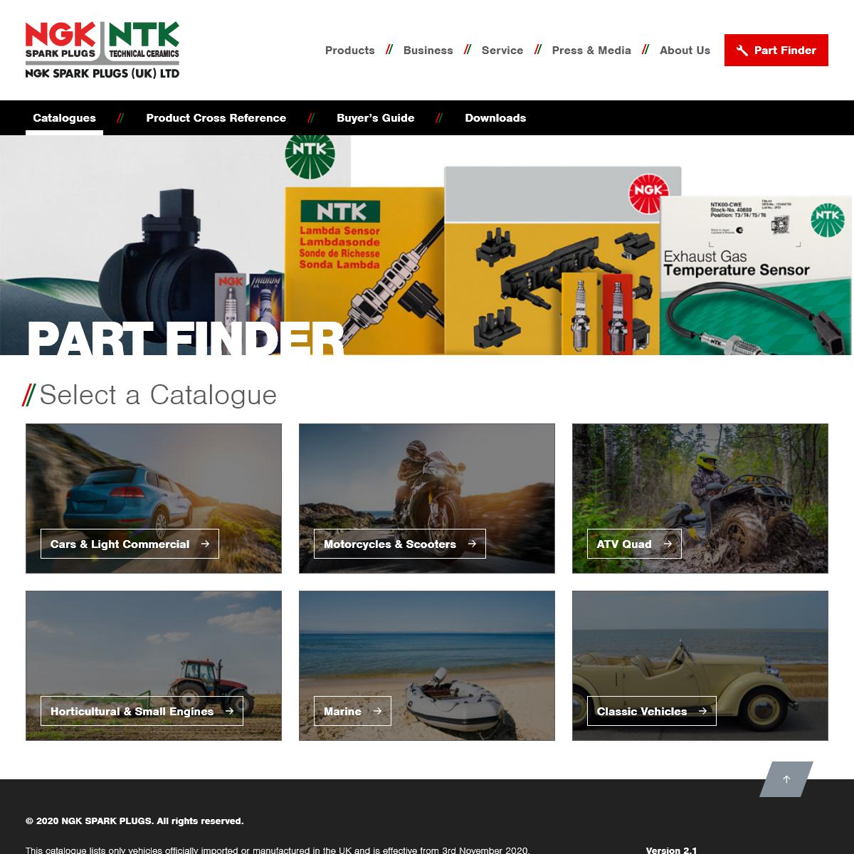 Part Finder - NGK Partfinder