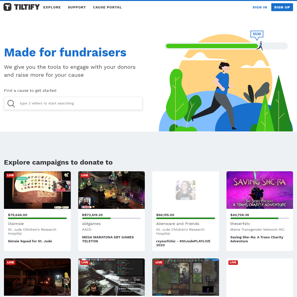 Tiltify - Made for Fundraisers