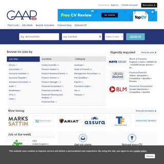 Accountancy & Finance Jobs - Finance Careers - GAAPweb