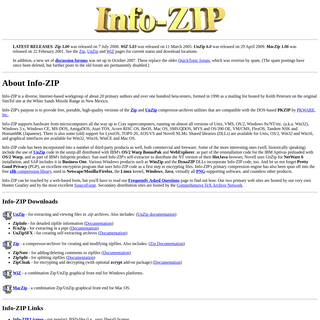 Info-ZIP Home Page