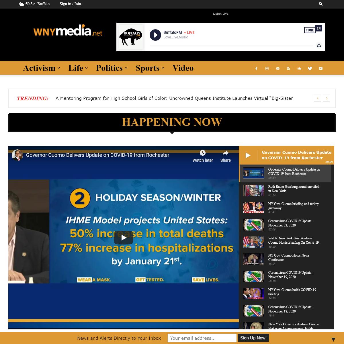 Home - WNYmedia Network - Live Video - Video News - WNYmedia Network - Buffalo, NY