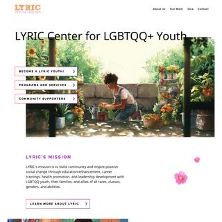 LYRIC. A San Francisco LGBTQQ youth organization.