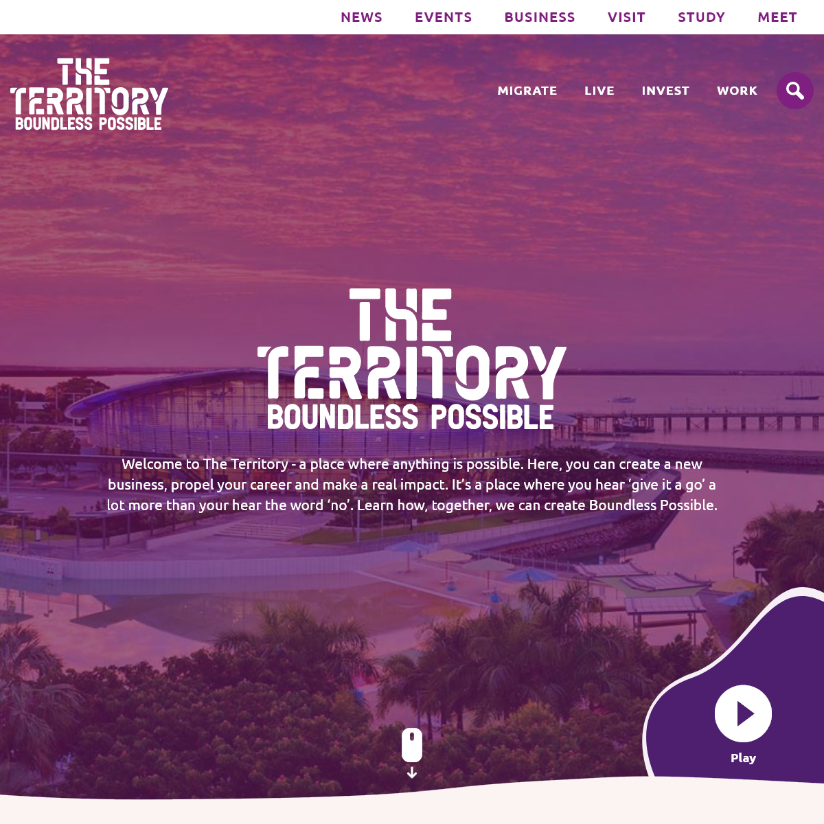Migrate, work, live and invest - Australia`s Northern Territory