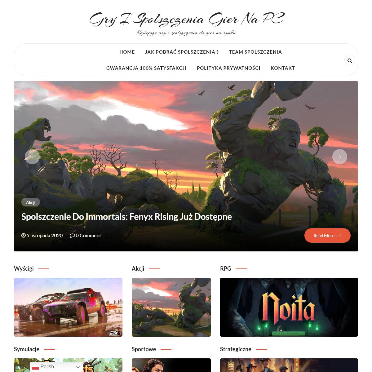 Gry i Spolszczenia Gier na PC – Najlepsze gry i spolszczenia do gier na rynku