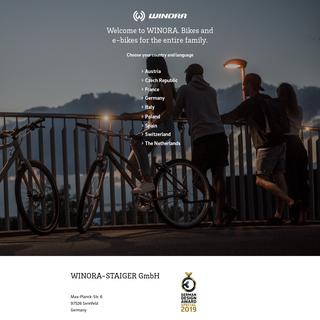 Winora bikes & e-bikes for the entire family. Let`s move!
