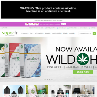 VAPORFI® Vape Shop Online - Best for Vape Juice, Mods & CBD