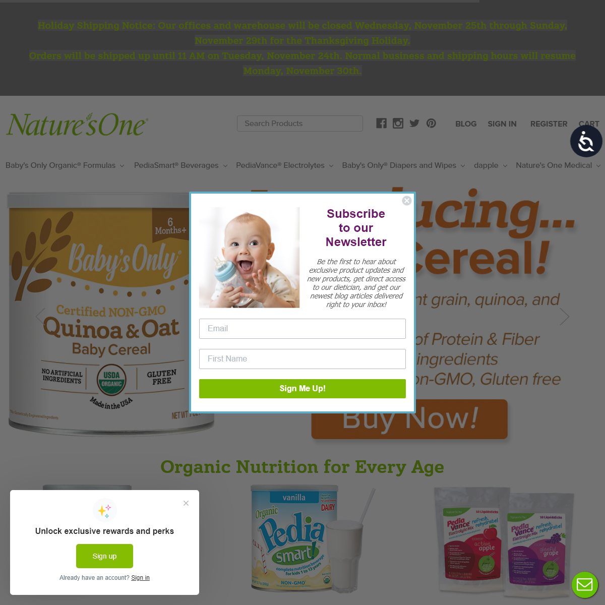 Natures One® - Since 1999, a Leader in Organic Nutrition for Any Age