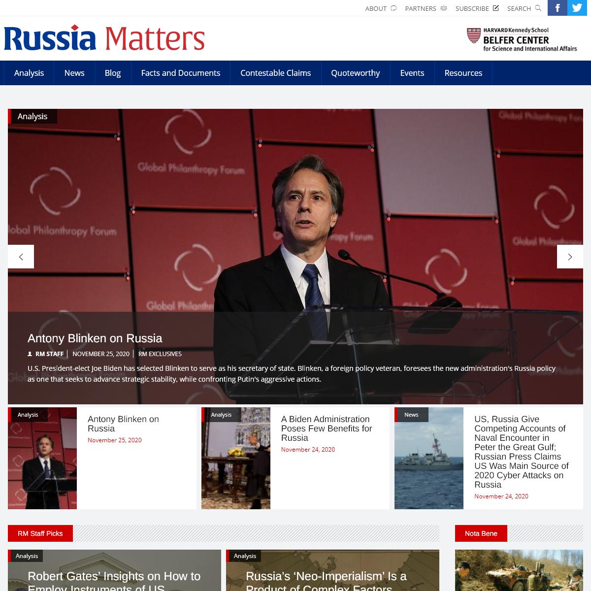 Russia Matters - Russia Matters
