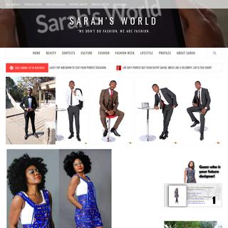 Sarah`s World – -We don`t do fashion. We are fashion.