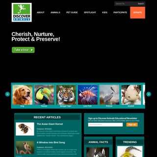 Discover Animals - Information for Animal Lovers & Experts
