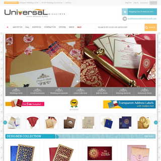 Indian Wedding Cards, Indian Wedding Invitations, Universal Wedding Cards