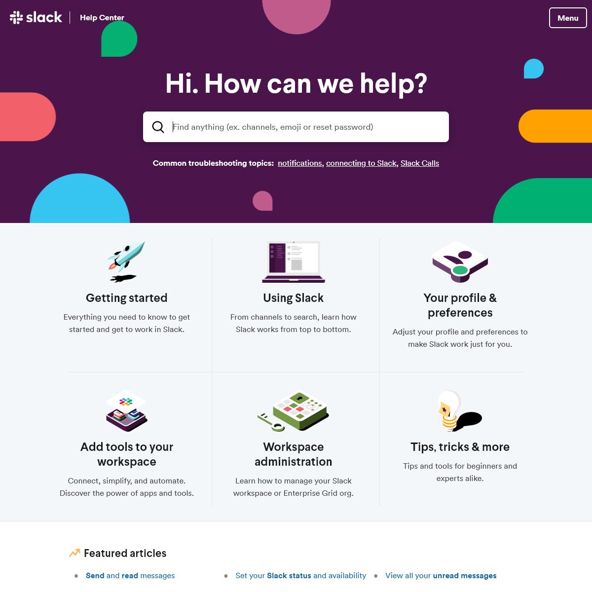 Slack Help Center - Slack