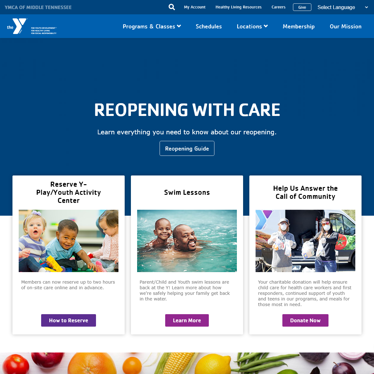YMCA of Middle Tennessee- Fit for Your Life