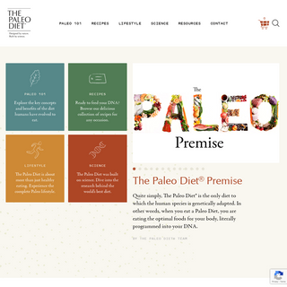Designed by nature. Built by science. - The Paleo Diet®