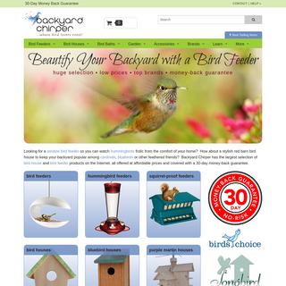 Bird Feeders & Houses from the Birding Experts @ Backyard Chirper