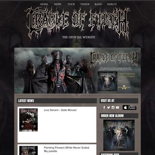 Cradle of Filth Official Website - New Album- Cryptoriana...