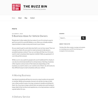 The Buzz Bin – Entrepreneur and Marketing Updates