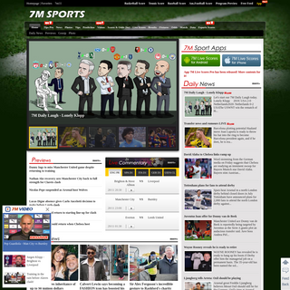 Live Scores, Sports News, Scores, Results, Fixtures, Odds, Database and more - 7M Sports
