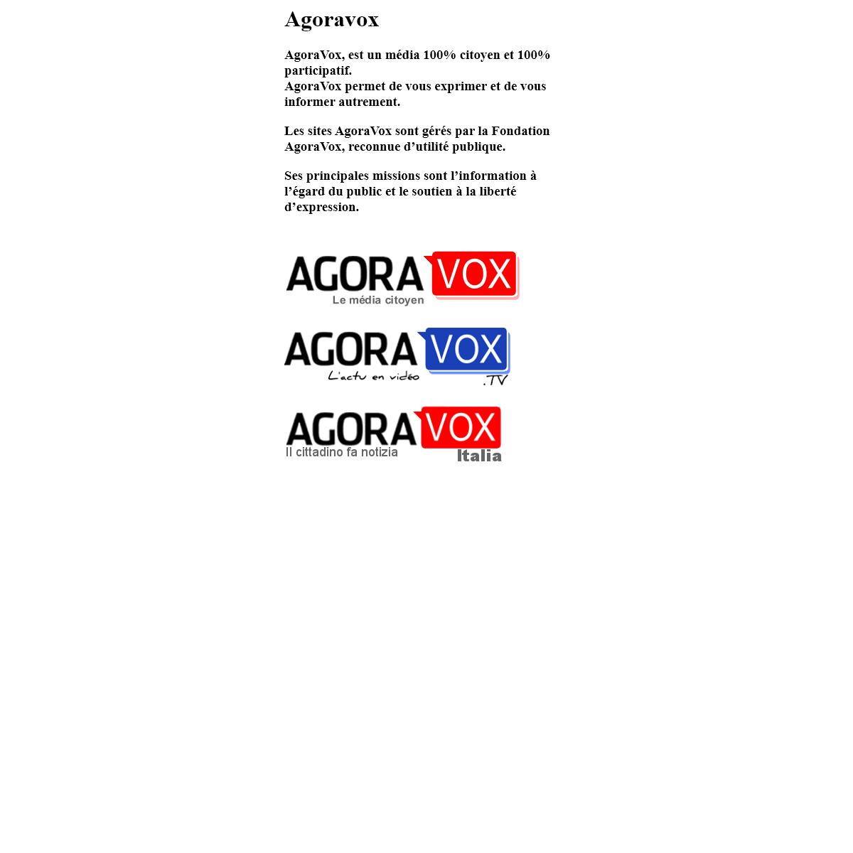A complete backup of agoravox.com
