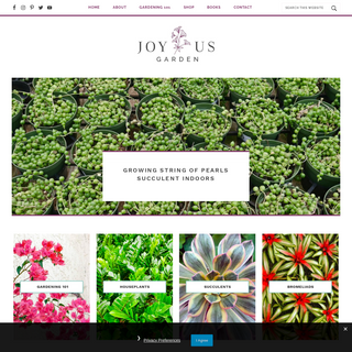 Joy Us Garden - Care, Propagation, and Pruning