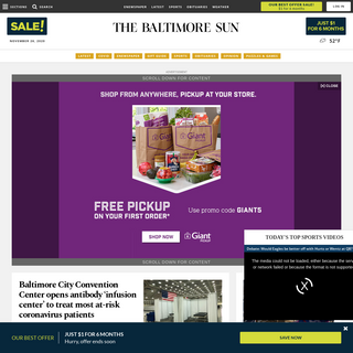 Baltimore Sun- Baltimore breaking news, sports, business, entertainment, weather and traffic