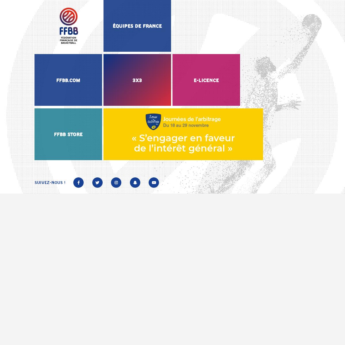 Accueil - Fédération Française de basket-ball