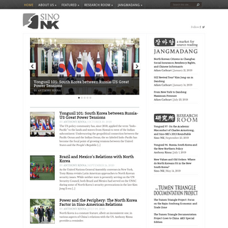 Sino-NK - Sino-NK is a research website for Sinologists and Koreanists.